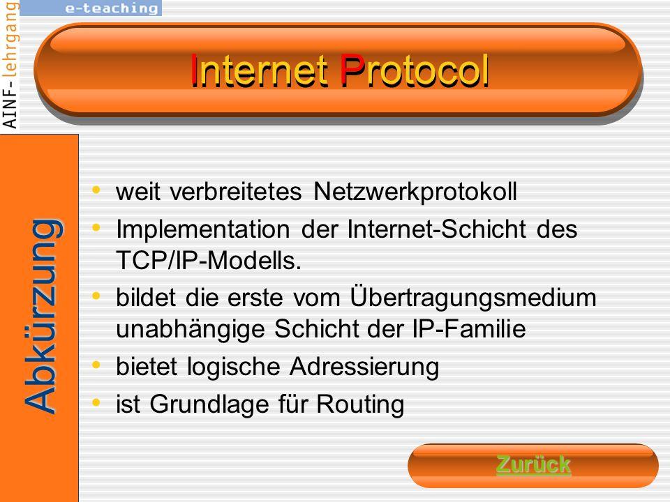 HyperText Transfer Protocol zustandsloses Datenaustausch-Protokoll zur Übertragung von Daten eines der Protokolle des TCP/IP- Protokollstapels Zugeord