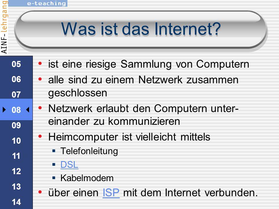 Was ist das Internet? 04 05 06 07 08 09 10 11 12 13 14 15