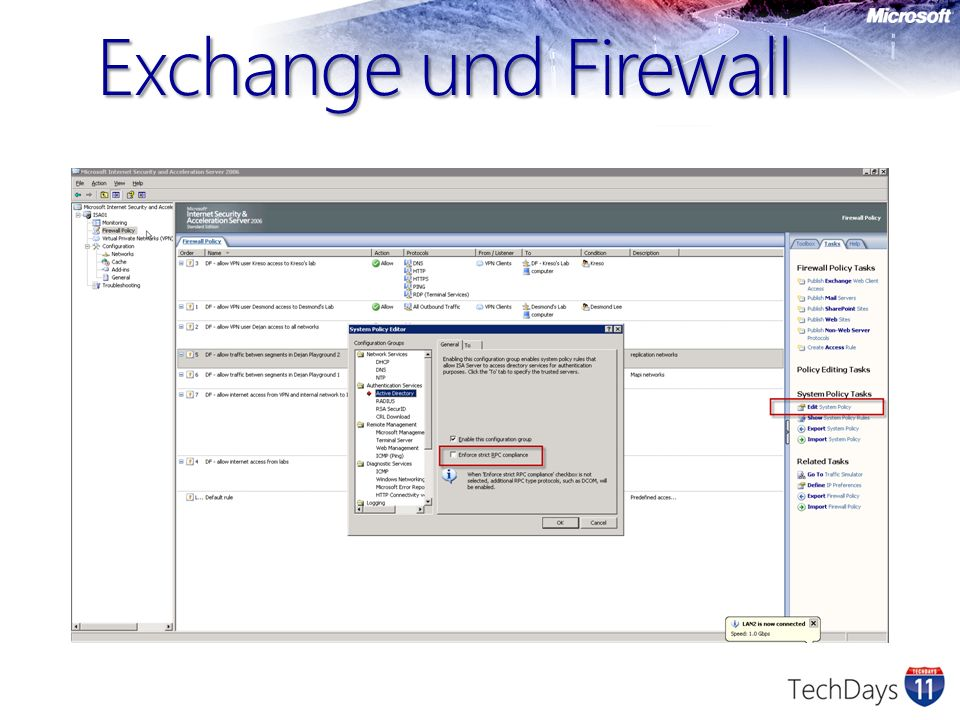 Exchange und Firewall