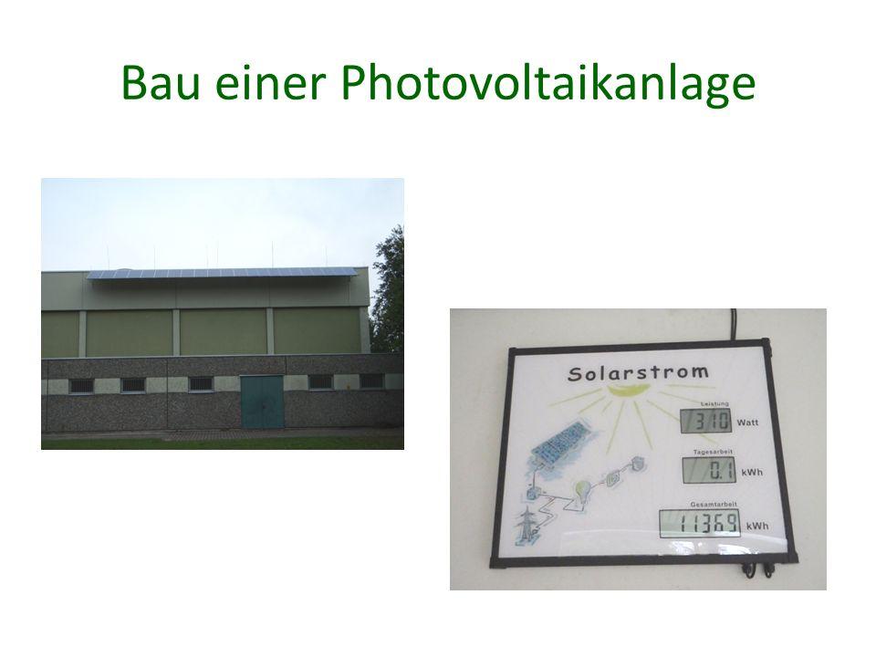 Bau einer Photovoltaikanlage