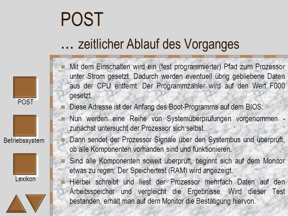 Lexikon POST Betriebssystem POST...