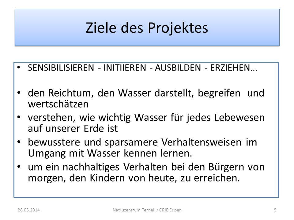 Ziele des Projektes SENSIBILISIEREN - INITIIEREN - AUSBILDEN - ERZIEHEN...