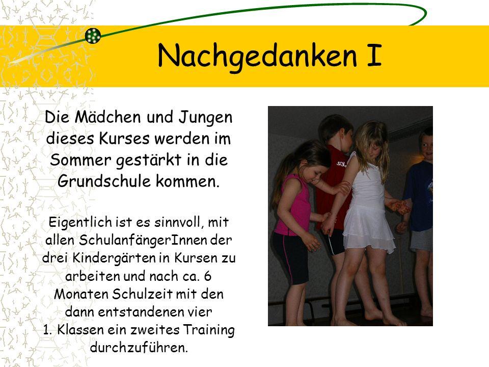 Nachgedanken I Die Mädchen und Jungen dieses Kurses werden im Sommer gestärkt in die Grundschule kommen.