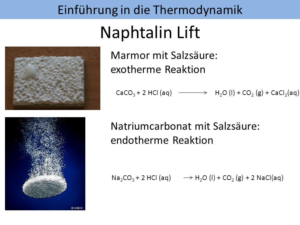 Einführung in die Thermodynamik Aufgabe: Berechnen Sie die Reaktionswärme für die Verbrennung von 10 g Ethanol mit Hilfe der mittleren Bindungsenthalpien
