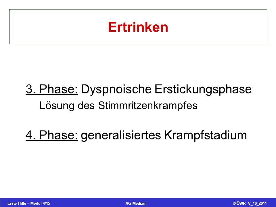 Erste Hilfe – Modul 4/15© ÖWR, V_10_2011AG Medizin Ertrinken 3.