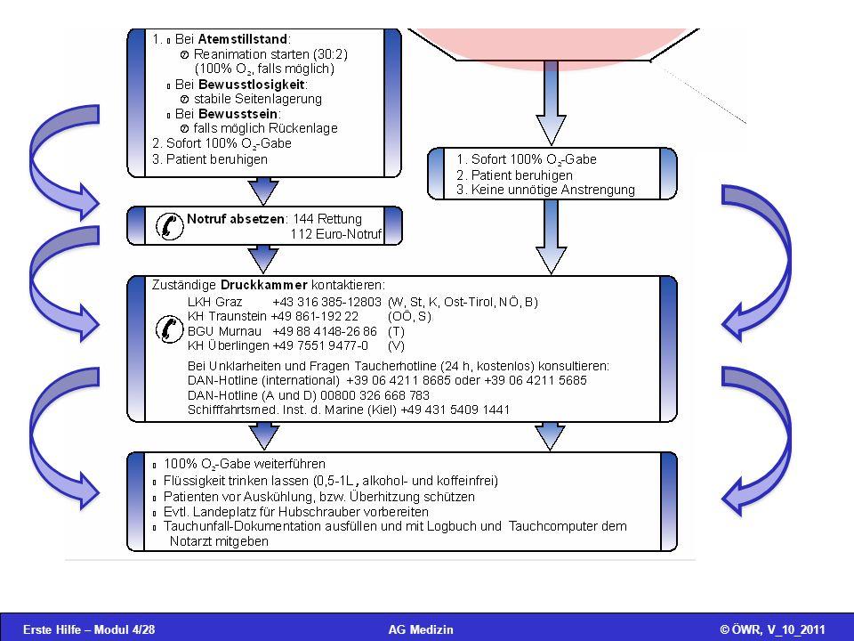 Erste Hilfe – Modul 4/28© ÖWR, V_10_2011AG Medizin