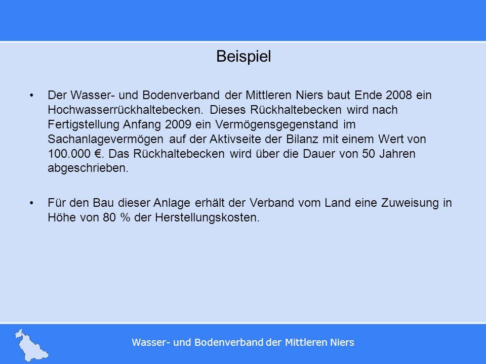 Wasser- und Bodenverband der Mittleren Niers Beispiel Der Wasser- und Bodenverband der Mittleren Niers baut Ende 2008 ein Hochwasserrückhaltebecken. D