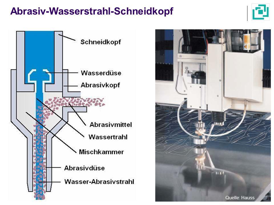 Abrasiv-Wasserstrahl-Schneidkopf Quelle: Hauss