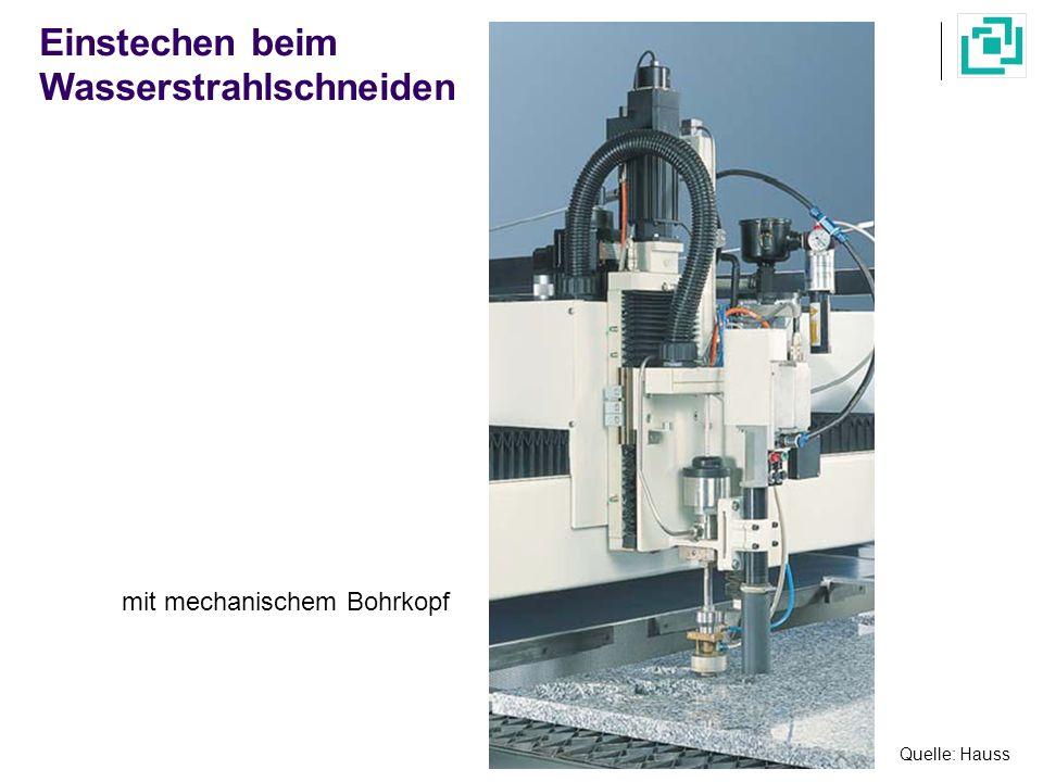 Quelle: Hauss Einstechen beim Wasserstrahlschneiden mit mechanischem Bohrkopf