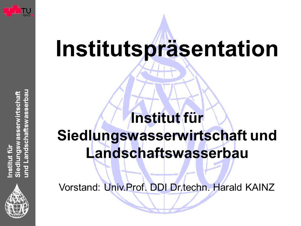 Institut für Siedlungswasserwirtschaft und Landschaftswasserbau Institutspräsentation Institut für Siedlungswasserwirtschaft und Landschaftswasserbau