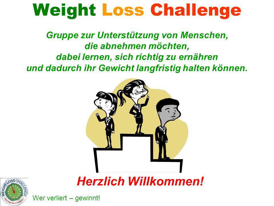 Weight Loss Challenge Gruppe zur Unterstützung von Menschen, die abnehmen möchten, dabei lernen, sich richtig zu ernähren und dadurch ihr Gewicht lang