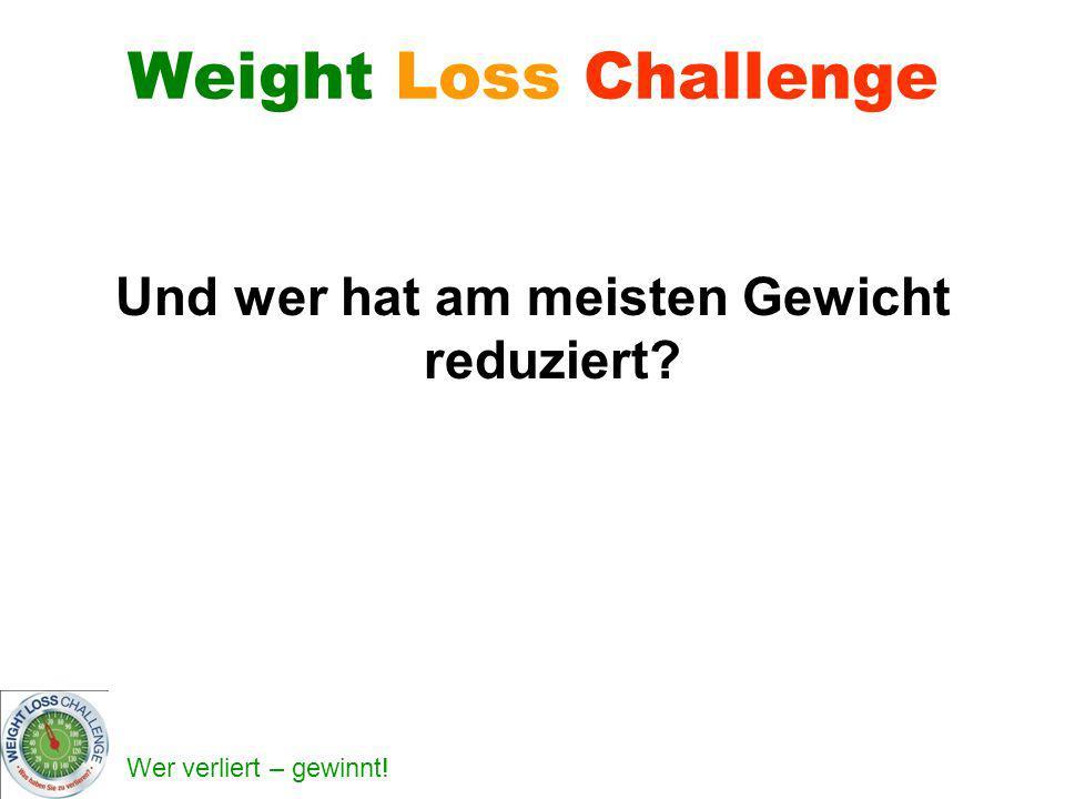 Wer verliert – gewinnt! Weight Loss Challenge Und wer hat am meisten Gewicht reduziert?