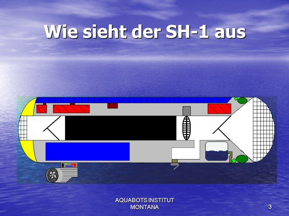 AQUABOTS INSTITUT MONTANA4 Wie reinigt der SH-1 Gewässer Eine Batterie von Kohlefiltern entfernt Verunreinigungen im Wasser.