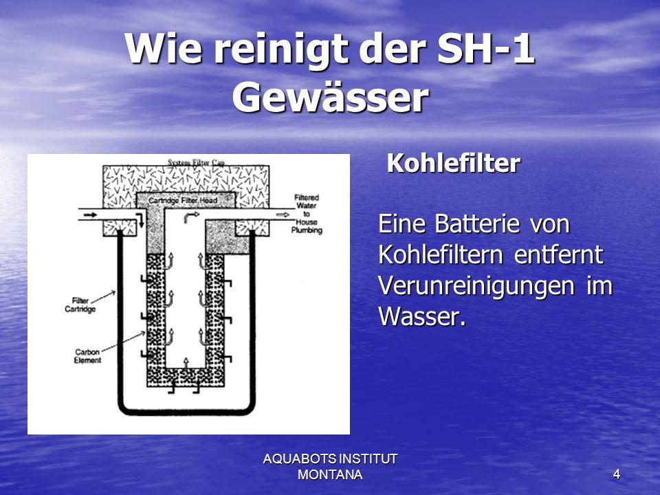 AQUABOTS INSTITUT MONTANA5 Shungite desinfiziert Wasser.