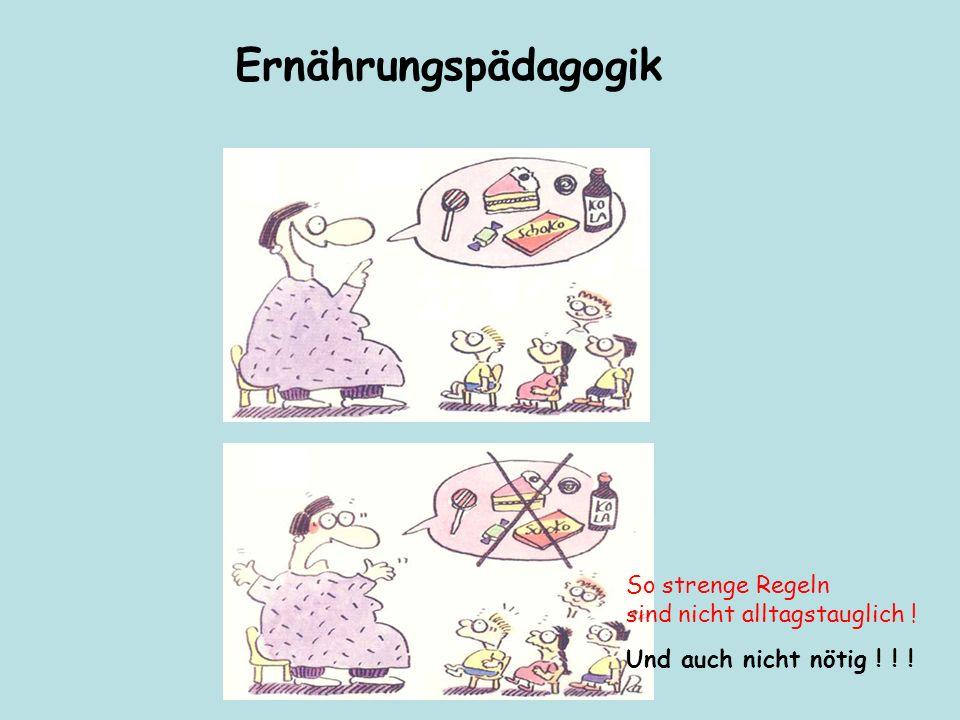 So strenge Regeln sind nicht alltagstauglich ! Und auch nicht nötig ! ! ! Ernährungspädagogik