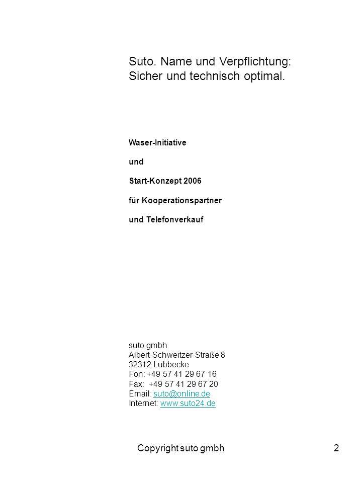Copyright suto gmbh23 Anschluss- und Aufstellvereinbarung zwischen Osnabrücker Gymnasium Ebert-Straße 9 34095 Osnabrück-A- genannt und suto gmbh Albert-Schweitzer-Straße 8 32312 Lübbecke -B- genannt A erhält a)---- BlueHorse, 1er Theke(n) b)---- BlueHorse, 2er Theke(n) c)---- BlueHorse, 3er Theke(n) Die Theken werden mit Kohlendioxid-Zylindern bestückt oder die Kohlendioxid-Zylinder werden zentral aufgestellt.