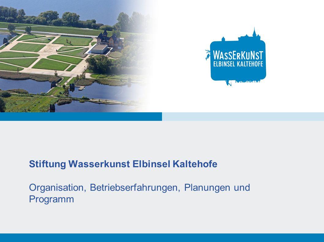 Folie 2 Wasserkunst Kaltehofe – Stadtteilratssitzung 28.2.2012 Wasserkunst Kaltehofe – Organisation Stiftungsgründung 1.12.2011 Seit dem 1.