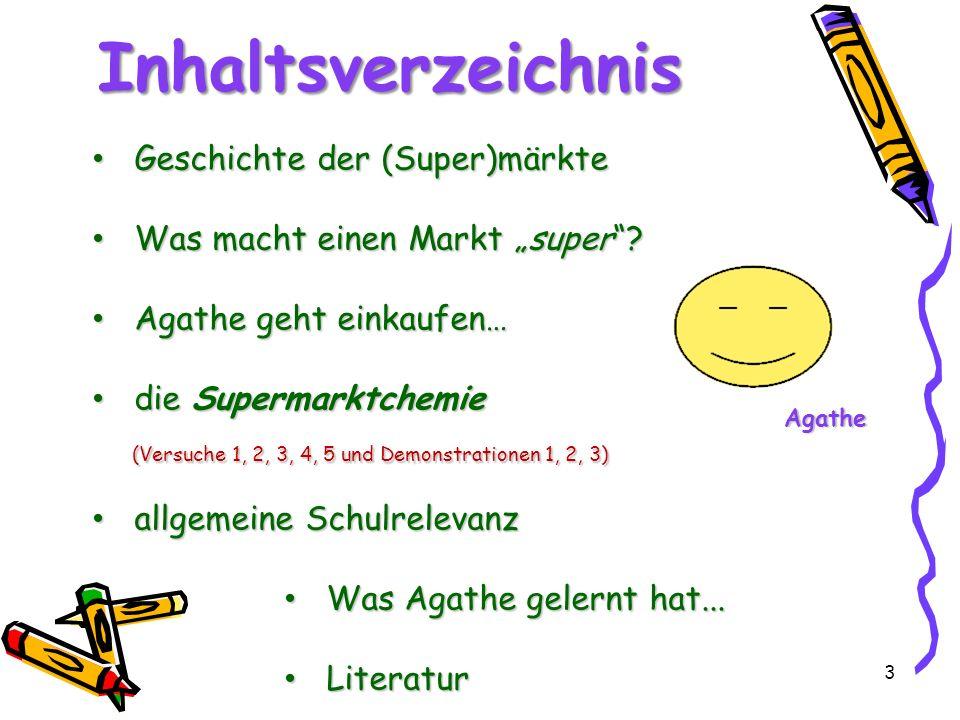 54 Literatur [1]Georg Schwedt; Experimente mit Supermarktprodukten; 3.