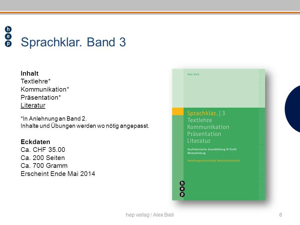 Inhalt Textlehre* Kommunikation* Präsentation* Literatur *In Anlehnung an Band 2. Inhalte und Übungen werden wo nötig angepasst. Eckdaten Ca. CHF 35.0