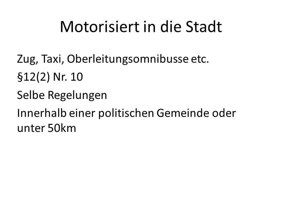 Motorisiert in die Stadt Zug, Taxi, Oberleitungsomnibusse etc.