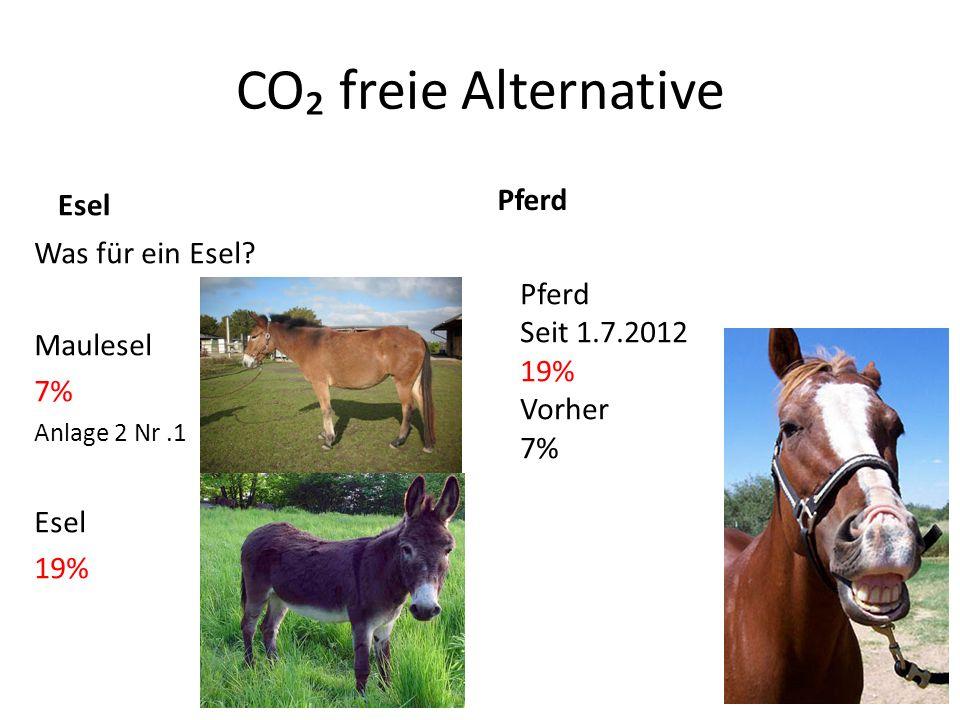 CO freie Alternative Esel Was für ein Esel.
