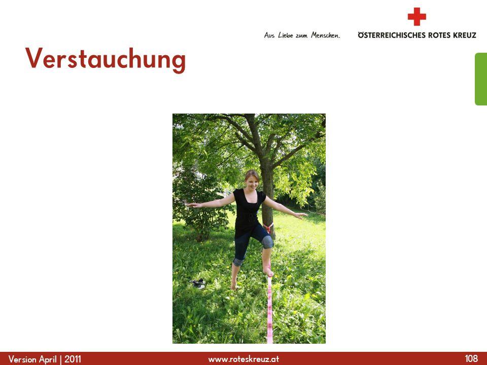 www.roteskreuz.at Version April | 2011 Verstauchung 108
