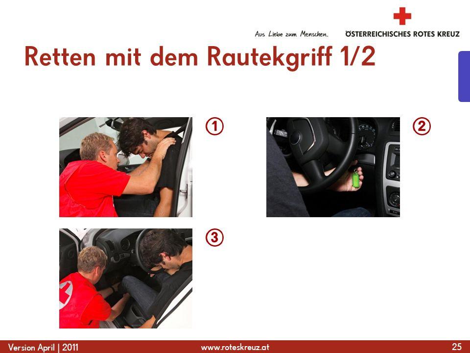 www.roteskreuz.at Version April | 2011 Retten mit dem Rautekgriff 1/2 25