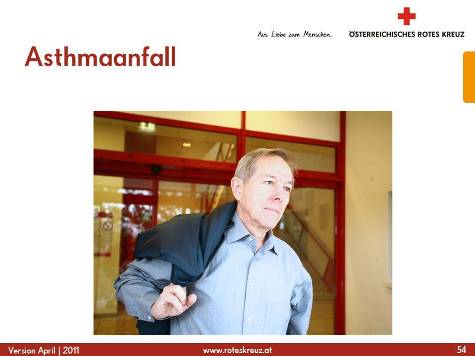 www.roteskreuz.at Version April | 2011 Asthmaanfall 54