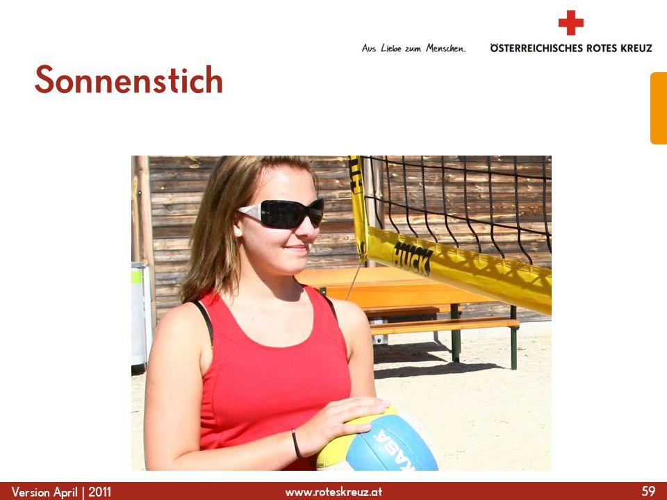 www.roteskreuz.at Version April | 2011 Sonnenstich 59