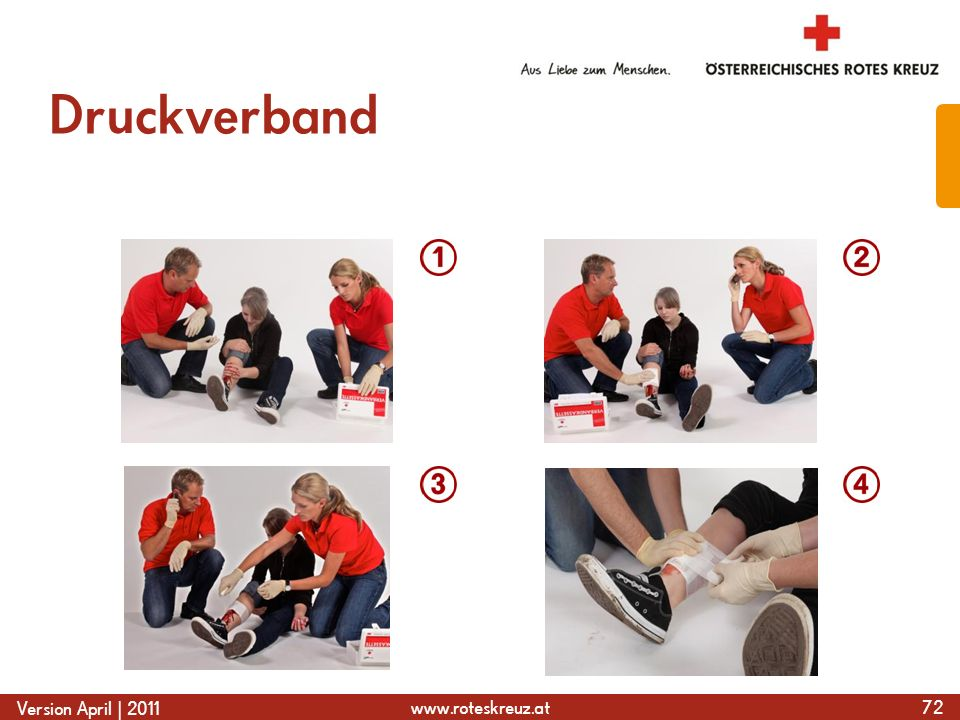www.roteskreuz.at Version April | 2011 Druckverband 72