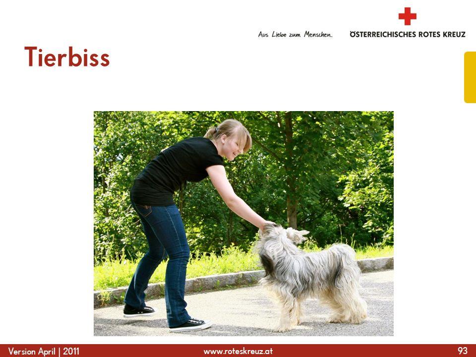 www.roteskreuz.at Version April | 2011 Tierbiss 93