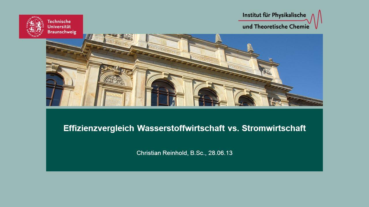 Effizienzvergleich Wasserstoffwirtschaft vs. Stromwirtschaft Christian Reinhold, B.Sc., 28.06.13