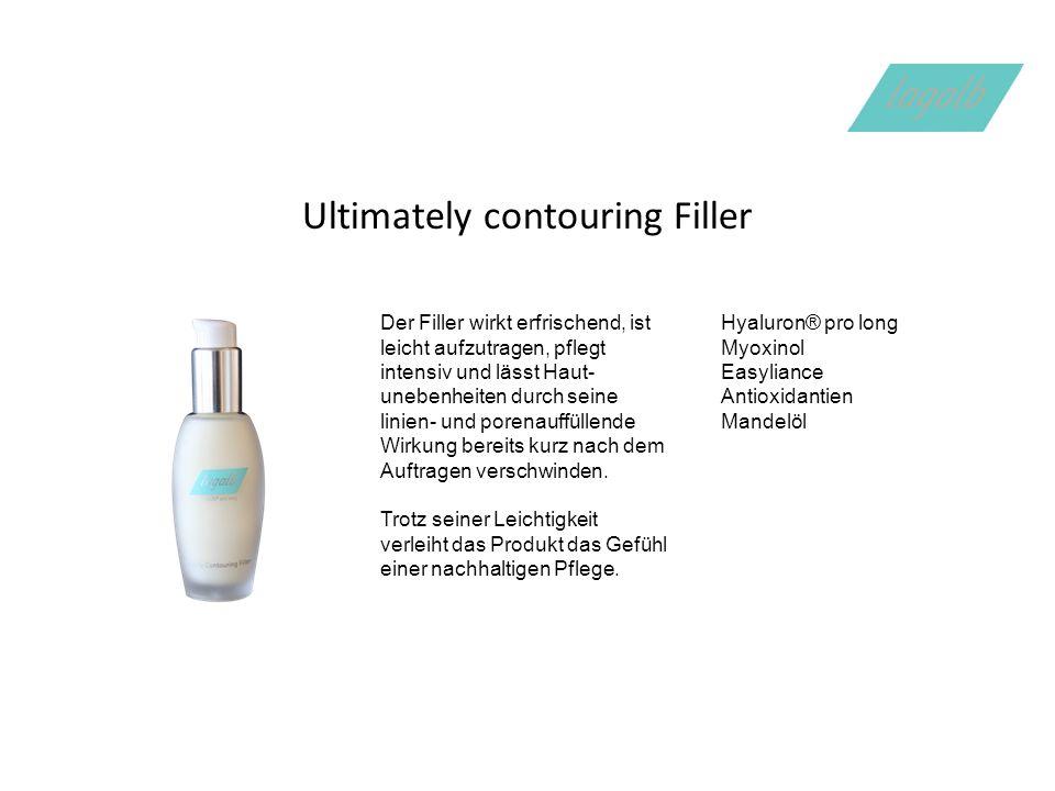 Ultimately contouring Filler Der Filler wirkt erfrischend, ist leicht aufzutragen, pflegt intensiv und lässt Haut- unebenheiten durch seine linien- und porenauffüllende Wirkung bereits kurz nach dem Auftragen verschwinden.