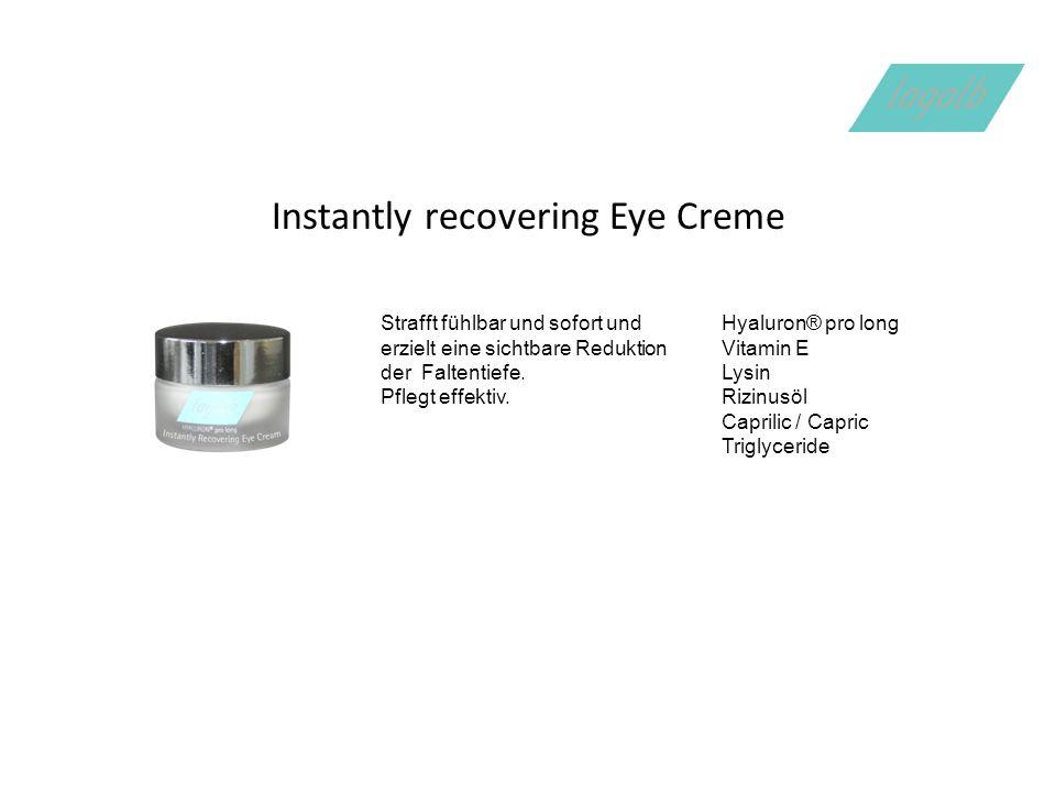 Instantly recovering Eye Creme Strafft fühlbar und sofort und erzielt eine sichtbare Reduktion der Faltentiefe.