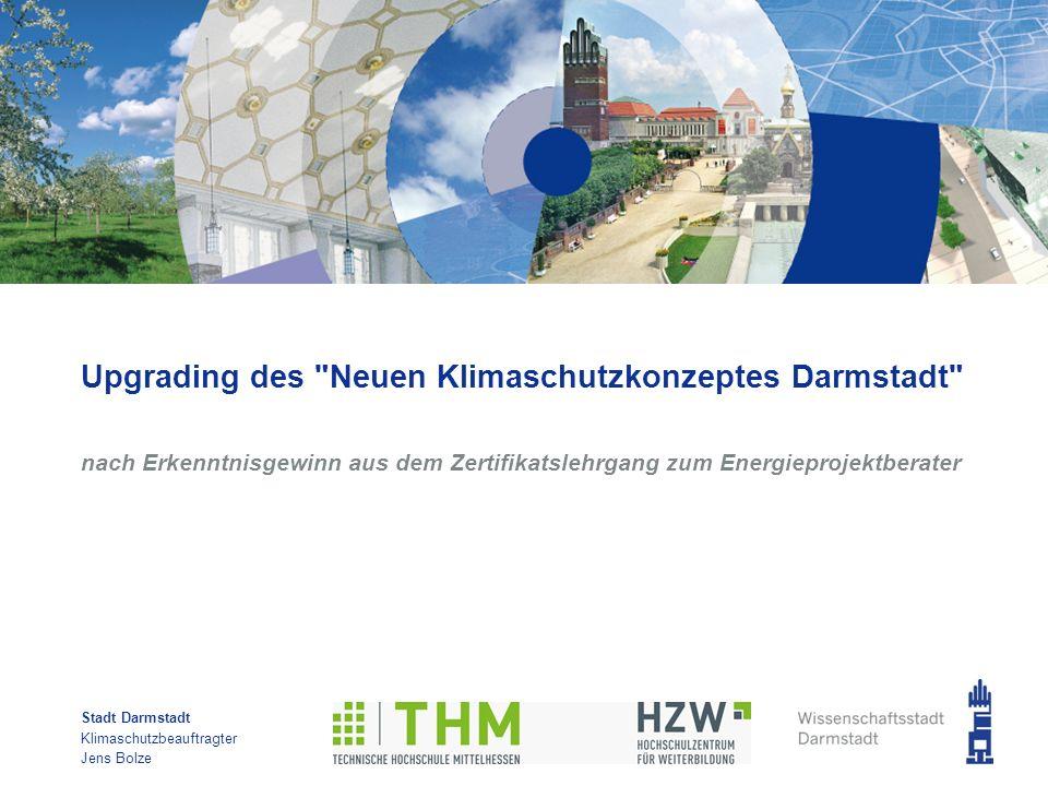 Stadt Darmstadt Klimaschutzbeauftragter Jens Bolze Upgrading des