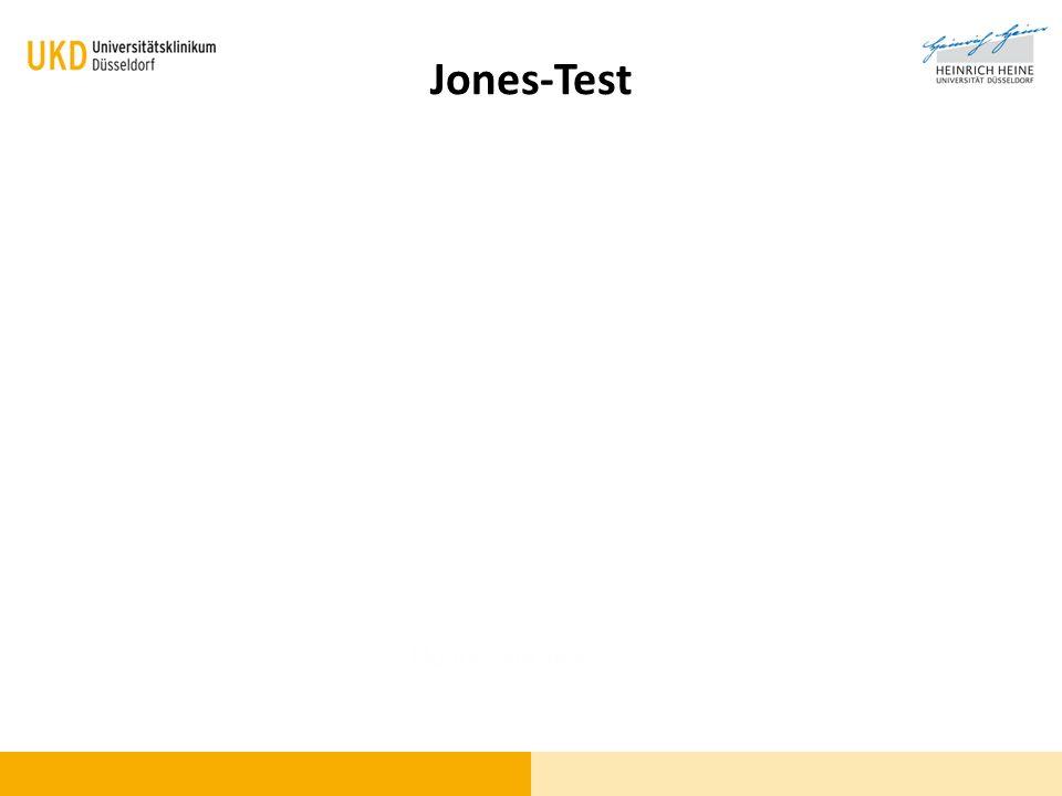 Fluoreszein-Test Jones-Test