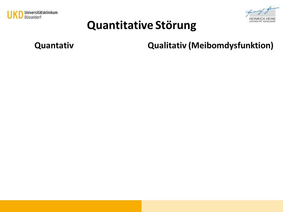 Quantitative Störung QuantativQualitativ (Meibomdysfunktion)