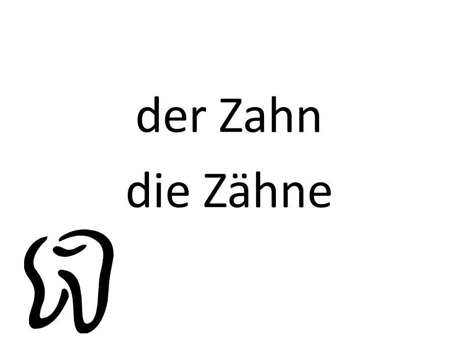 der Zahn die Zähne