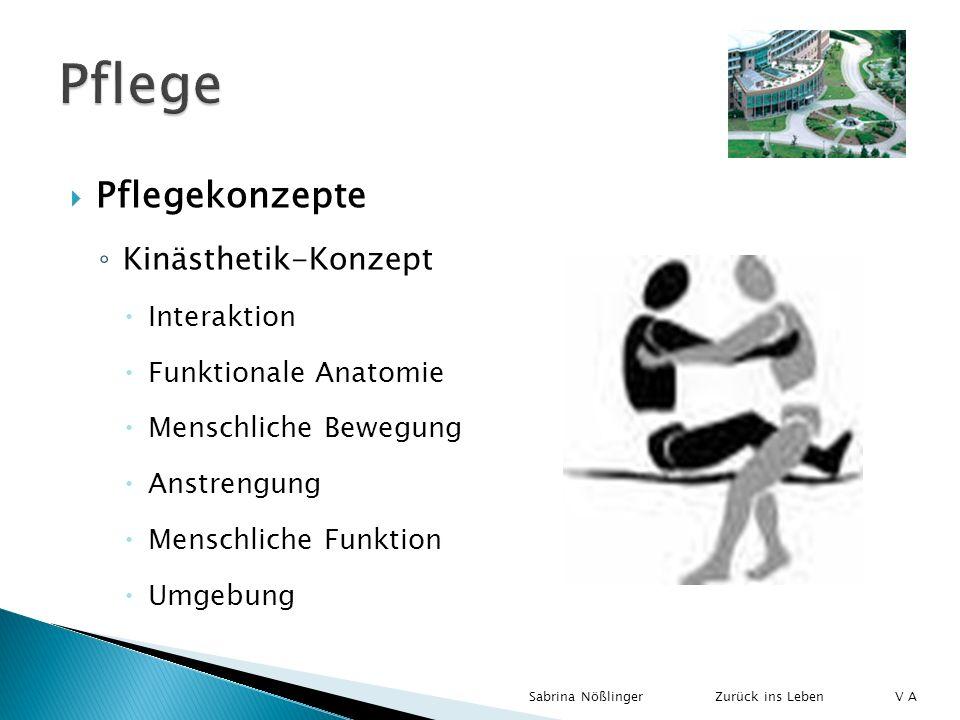 Pflegekonzepte Kinästhetik-Konzept Interaktion Funktionale Anatomie Menschliche Bewegung Anstrengung Menschliche Funktion Umgebung Zurück ins LebenSab