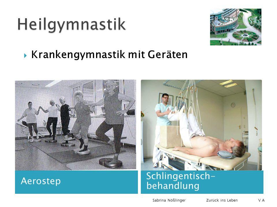 Aerostep Schlingentisch- behandlung Krankengymnastik mit Geräten Zurück ins LebenSabrina Nößlinger V A