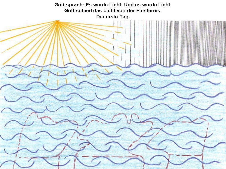 Gott sprach: Es werde Licht. Und es wurde Licht. Gott schied das Licht von der Finsternis. Der erste Tag.