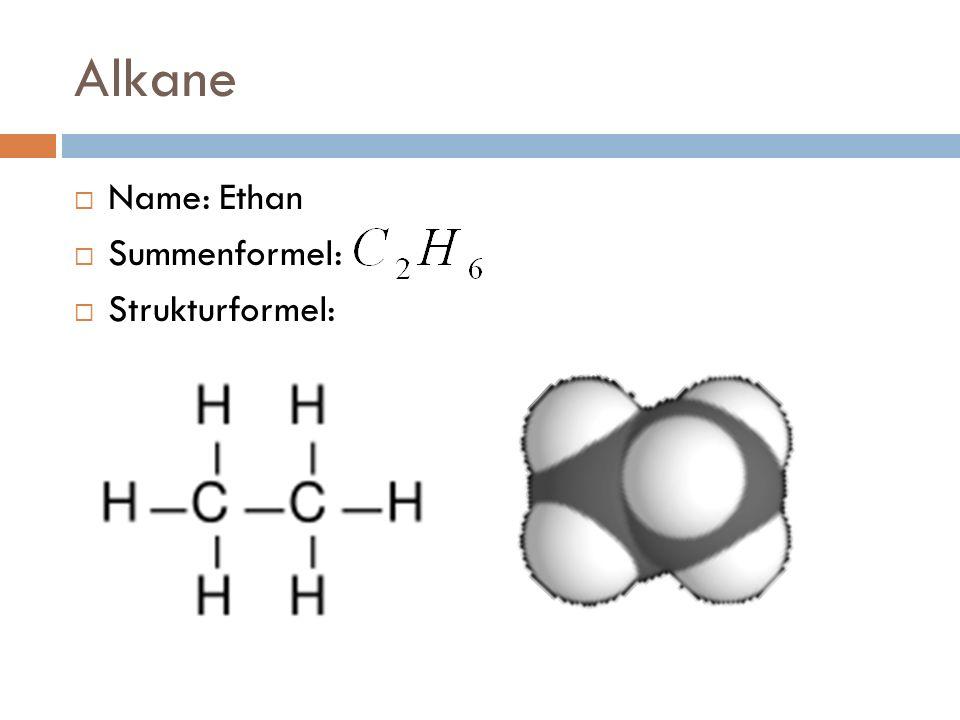 Alkene Name: Ethen Summenformel: Strukturformel: