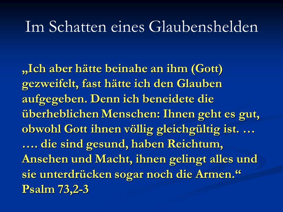 Im Schatten eines Glaubenshelden fromme Eltern haben die im Reich Gottes vieles bewirken.