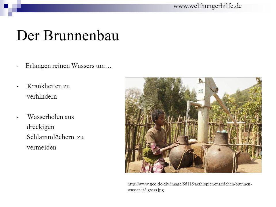 Der Brunnenbau - Erlangen reinen Wassers um… - Krankheiten zu verhindern - Wasserholen aus dreckigen Schlammlöchern zu vermeiden http://www.geo.de/div