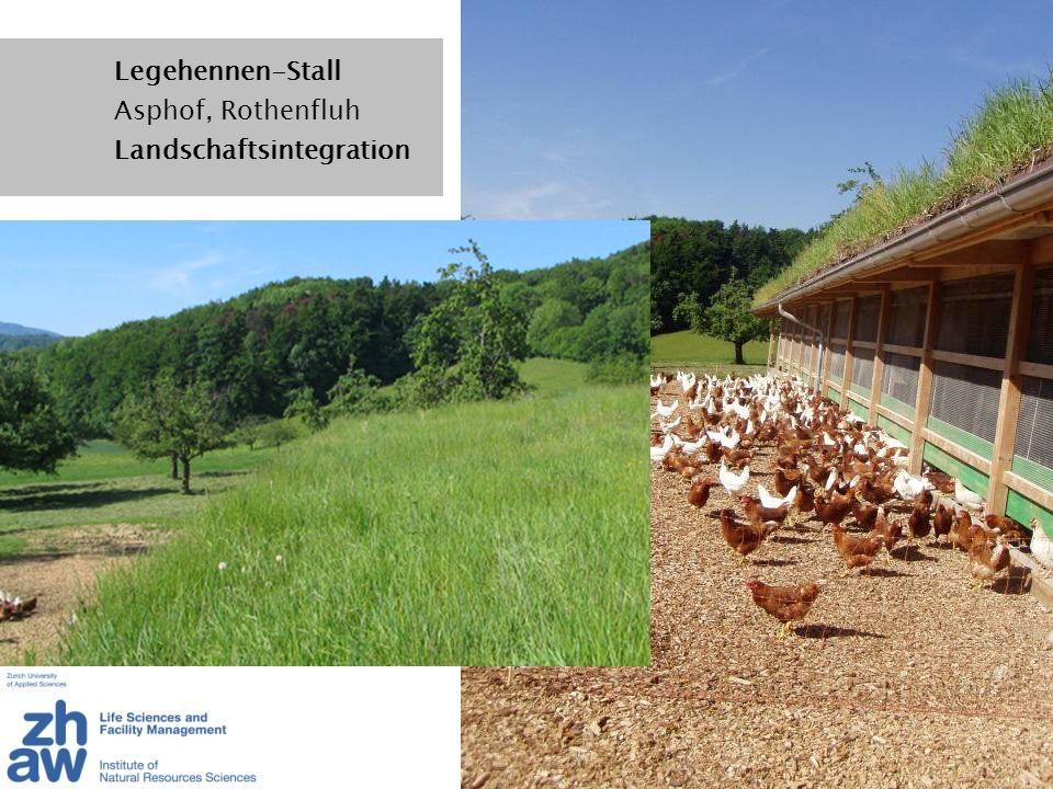 Legehennen-Stall Asphof, Rothenfluh Landschaftsintegration