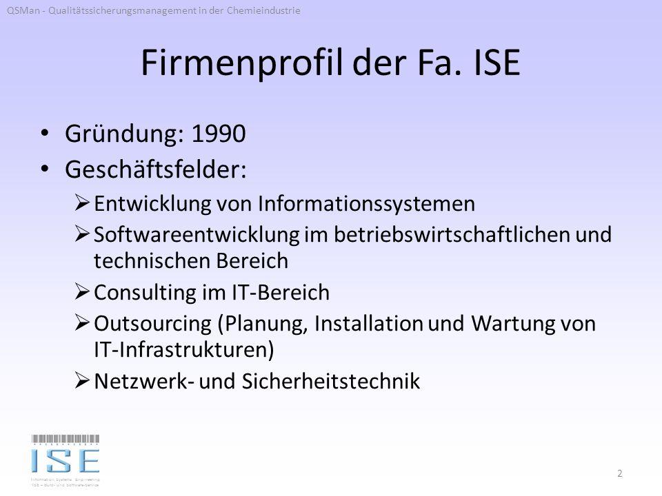 Information Systems Engineering ISE – Büro- und Software-Service Firmenprofil der Fa.