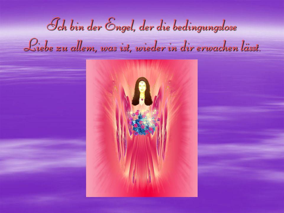 Ich bin der Engel, der die bedingungslose Liebe zu allem, was ist, wieder in dir erwachen lässt.