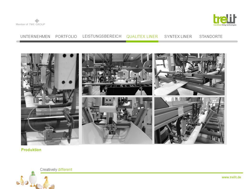 Creatively different www.trelit.de UNTERNEHMENPORTFOLIO LEISTUNGSBEREICH QUALITEX LINERSYNTEX LINER Produktion STANDORTE