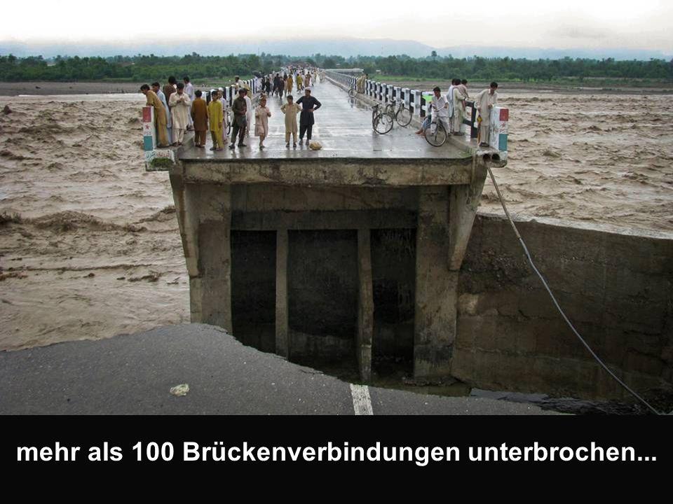 mehr als 100 Brückenverbindungen unterbrochen...