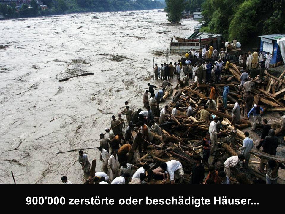 900 000 zerstörte oder beschädigte Häuser...